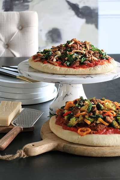 Vegan Pizza with tons of vegetables