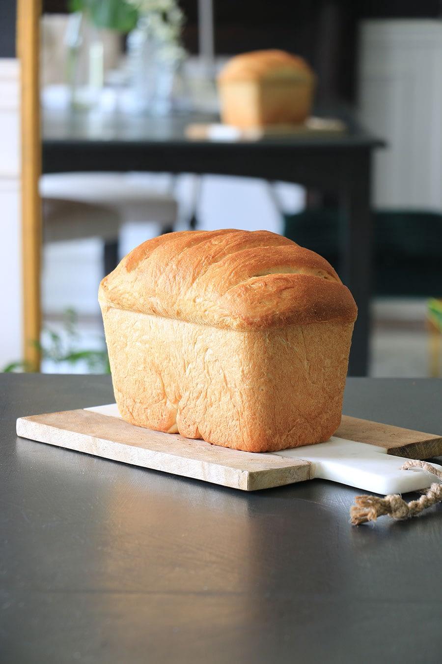 homemade bread with ridges