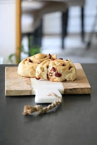 sweet bread with cranberries